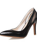 Women's Shoes Leatherette Stiletto Heel Heels Heels Wedding / Office & Career / Party & Evening Black / Pink / White