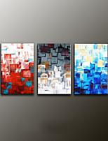 håndmalede abstrakte moderne oliemaleri, lærred tre paneler