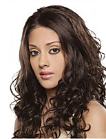Hottest Women Lady Brown Color Fashion Long Curly Syntheic Wig