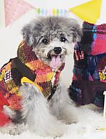 Cães Casacos Vermelho / Amarelo Inverno Fashion