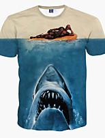 Katoen - Print - Heren - T-shirt - Informeel - Korte mouw