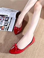 Women's Shoes Leatherette Flat Heel Comfort Flats Outdoor / Casual Black / Red / White
