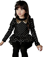 Girl's Black / Red Dress Cotton Spring / Fall