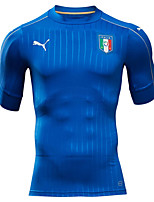 2016 Europ Cup Italy Natioanl Football Team Unisex Half Sleeve Soccer Tops Wicking Blue  M / L / XL