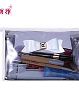 Rangement pour Maquillage Trousse à Cosmétiques / Rangement pour Maquillage PVC Nœud Ellipse 23*7*13CM Gris / Rouge / Violet / Rose