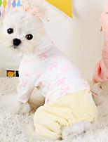 Cães Casacos Branco / Azul / Rosa Inverno Fashion