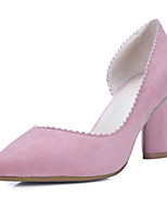 Women's Shoes Suede Chunky Heel Heels / Comfort / Pointed Toe Heels / Slip-on Outdoor / Office & Career / Party