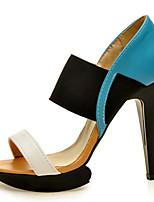 Women's Shoes Leatherette Stiletto Heel Heels / Platform Sandals Office & Career / Dress / Casual Blue / Yellow