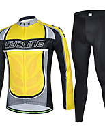 CHEJI Men Bike Cycling Long Sleeve Clothing Bicycle Sportwear Suit Jersey + Long Trousers