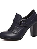 Damenschuhe - High Heels - Lässig - Kunstleder - Blockabsatz - Absätze / Neuheit - Schwarz / Mandelfarben