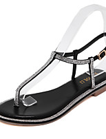 Women's Shoes Flat Heel Round Toe Sandals Casual Black / Silver