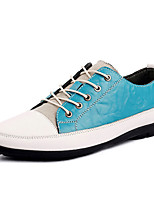 Men's Shoes Outdoor / Casual Leather / Canvas Oxfords Black / Blue / Brown