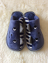 Men's Shoes Casual Fleece Slippers Blue / Brown