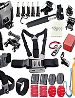 Gopro Accessories 34 in 1 set Monopod+Remote Wrist Belt+Bag+Chest Belt for Gopro Hero4 3+