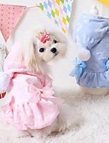 Cães Camisola com Capuz Azul / Rosa Primavera/Outono Fashion