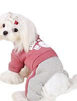 Cães Camiseta Vermelho / Preto / Azul Primavera/Outono Carta e Número Fashion