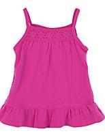 Girl's Red Dress,Ruffle Cotton Summer