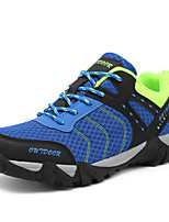 Men's Athletic Shoes Spring Summer Fall Winter Comfort Couple Shoes Tulle Outdoor Athletic Casual Lace-up Blue Gray Orange Hiking