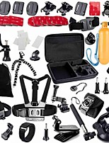 Gopro Accessories 49 in 1 Set Helmet Harness  Mount Strap Monopod Tripod For Go pro Hero 4 3 3+ sjcam xiaomi