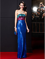 TS Couture® Formal Evening Dress-Multi-color Sheath/Column Strapless Floor-length Sequined