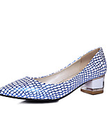 Women's Shoes PU Summer/Fall Heels/Pointed Toe Heels Office & Career/Casual Low Heel Others Blue/Silver/Gold