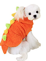 Dog Hoodie Red / Green Spring/Fall Animal / Cartoon Fashion