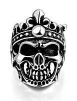Unique Star celebrity men styles skull ringFor Men Black Titanium Vintage Male Rings