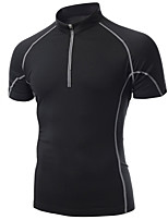 Sports Cycling Jersey Men's Short Sleeve Bike Breathable / Quick Dry / smooth / Compression / Tops Silk