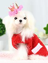 Cães Casacos Vermelho / Azul Inverno Fashion