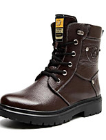Men's Shoes Outdoor Leatherette Boots Black / Brown
