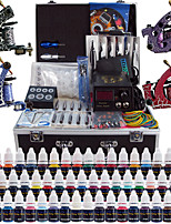 Solong Tattoo Complete Tattoo Kit 4 Pro Machine Guns 54 Inks Power Supply Foot Pedal Needles Grips Tips TK456