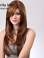 Fashion Curly Brown Color Waves of High Quality Synthetic Hair Wigs.