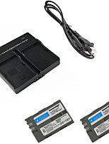 ismartdigi EL3E Digital Camera Battery x2 + Dual Charger for Nikon D90 D80 D300S D300 D700 D200