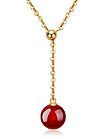 Necklace Pendants Jewelry Wedding / Party / Daily / Casual Fashionable Sterling Silver / Agate Black / Silver / Red 1pc Gift