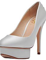Women's Wedding Shoes Heels / Platform / Pointed Toe / Closed Toe Heels Wedding / Party & Evening / Dress White