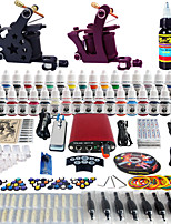 Solong Tattoo Complete Tattoo Kit 2 Pro Machine Guns 40 Inks Power Supply Foot Pedal Needles Grips Tips TK257