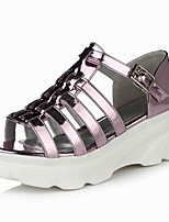Women's Shoes  Flat Heel Platform / Comfort / Open Toe Sandals Outdoor / Office & Career / Dress Pink / Silver