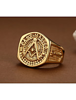 18K Gold Local Tyrants Exaggerated Man Ring