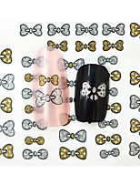 10PCS 3D Water Transfer Gold/Silver Bow-knot Nail Art Sticker DIY Nail Tools Decoration  Nail Tips BLE902D