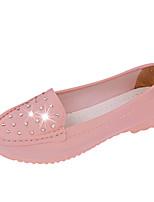 Women's Shoes Leatherette Flat Heel Ballerina Flats Outdoor / Office & Career / Dress / Casual Black / Blue / White