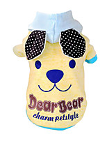 Dog Hoodie Blue / Yellow Spring/Fall Fashion