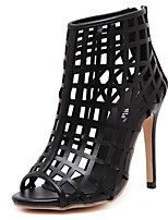 Women's Shoes Stiletto Heel Heels / Open Toe Sandals Wedding / Office & Career / Party & Evening / Dress Black