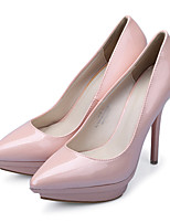 Women's Shoes Leatherette Stiletto Heel Heels / Platform / Pointed Toe Heels Party & Evening / Dress / Green / Silver
