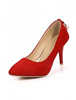 Women's Shoes Leatherette Stiletto Heel Heels Heels Wedding / Office & Career / Party & Evening Black / Red / Gray