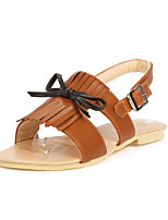 Women's Shoes Flat Heel Open Toe Sandals Outdoor / Dress / Casual Black / Yellow / White