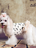 Cani Cappottini-Inverno-Di tendenzaBianco- diCotone