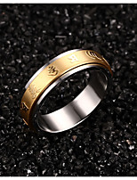 316 Pure Steel Plated Six Words Rotating Ring