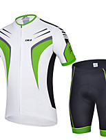 Sports Bike/Cycling Jersey + Shorts / Tops / Bottoms Men's Short Sleeve Breathable / Sweat-wicking Elastane SportS / M / L / XL / XXL /