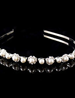 Pearl Flower Shape Headband for Wedding Party