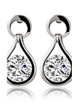 Contracted Zircon Sparkling Crystal Teardrop-shaped Earrings Bridal Jewelry
